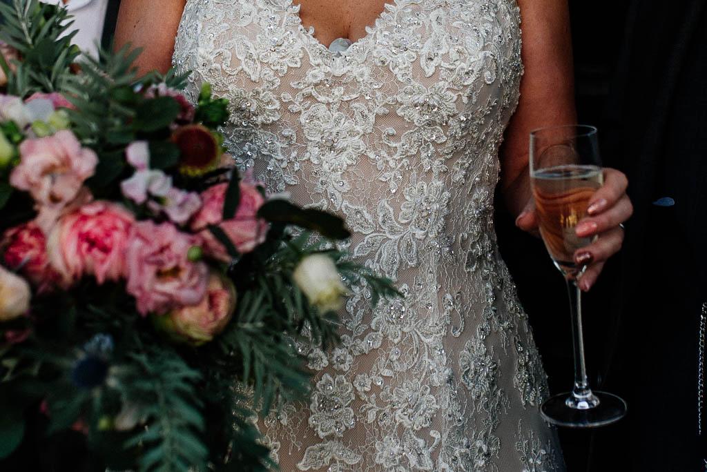 Passionate wedding photographer capturing a wedding